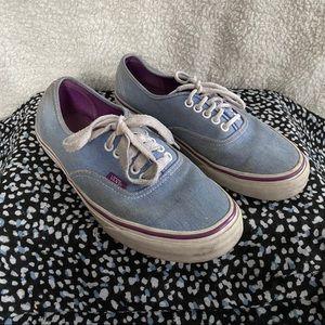 Vans Light Blue Low Cut Shoes